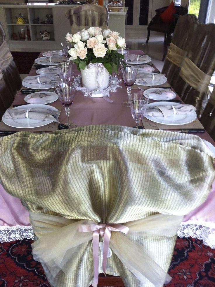 Table setting Valentines dinner