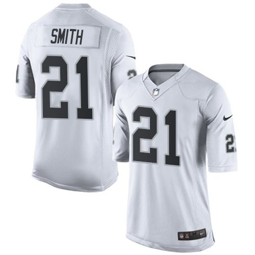 $24.99 Youth Nike Oakland Raiders #21 Sean Smith Limited White NFL Jersey