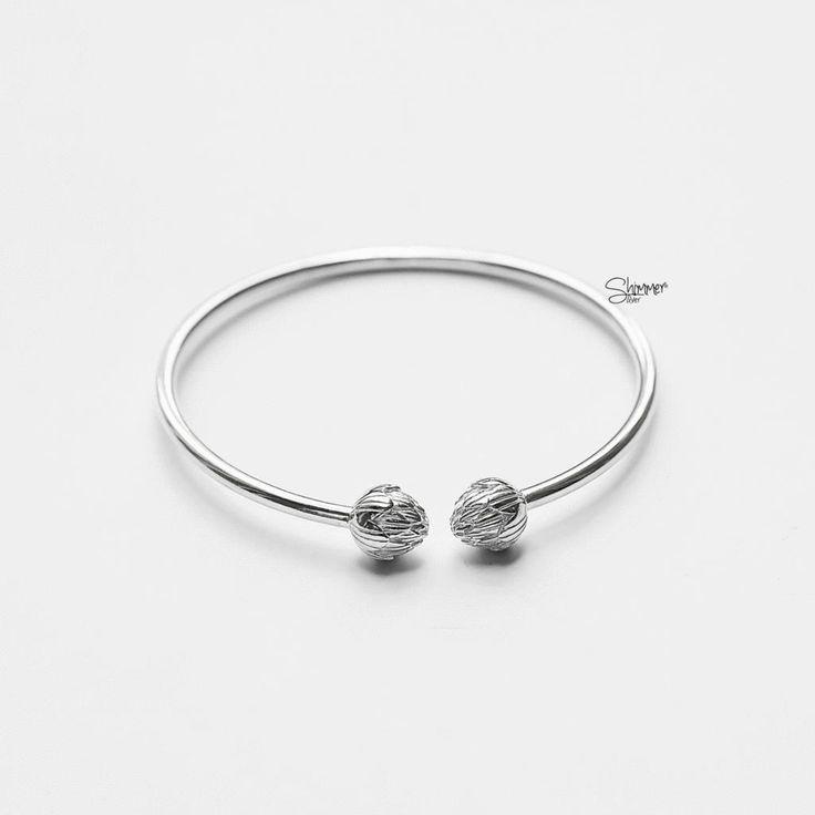 Atiso Bangle Bracelet - Handmade Sterling Silver 925 - Tonkin Jewelry