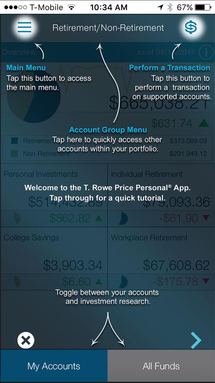 T. Rowe Price in iOS app image.