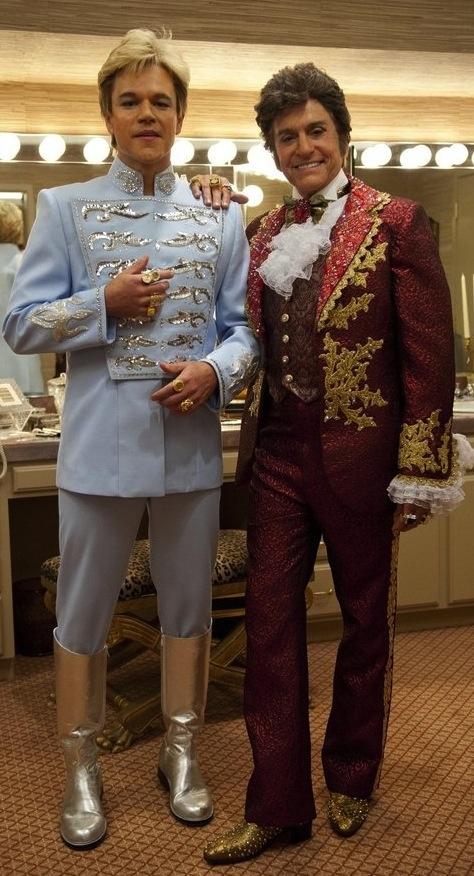 Matt Damon and Michael Douglas in 'Behind the Candelabra' (2013). Costume Designer: Ellen Mirojnick.