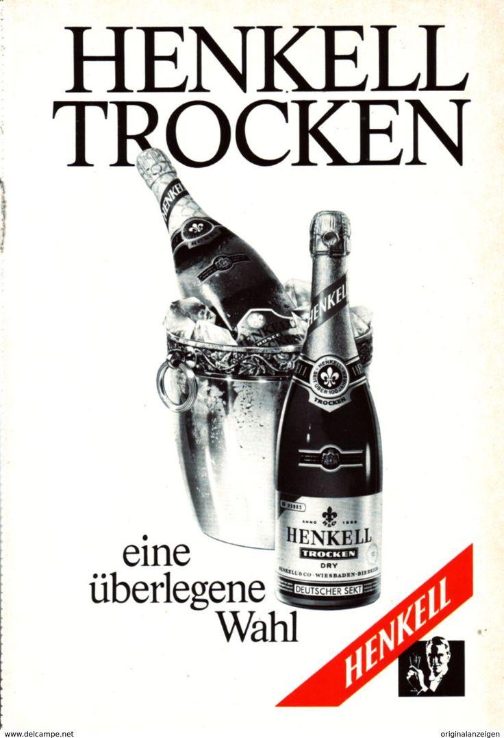 Werbung - Original-Werbung/ Anzeige 1970 - HENKELL TROCKEN SEKT - ca. 160 x 230 mm