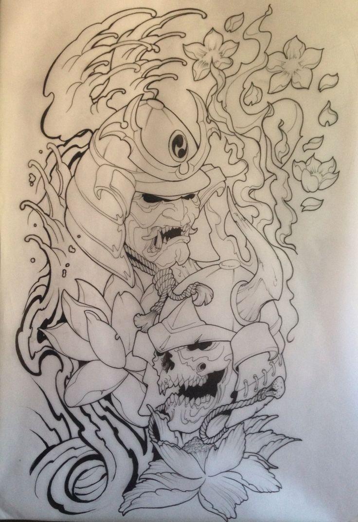 Samurai Tattoo draw drawing Asia: