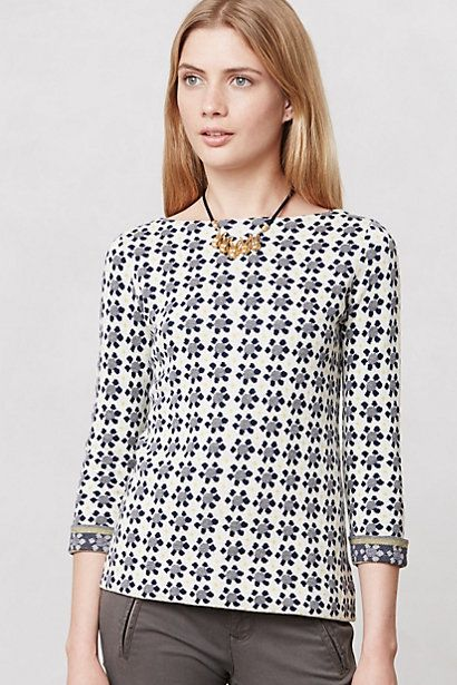 Geo Bloom Pullover #anthropologie
