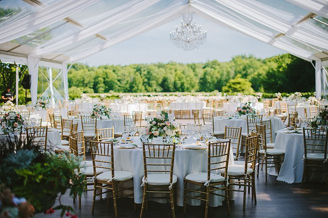 Kohler, Wisconsin wedding. Riverbend mansion, American Club. Outdoor open tent reception. Anna Page Photography.