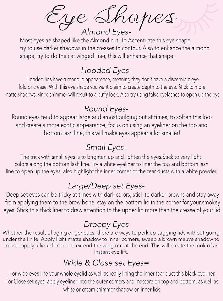 Makeup tips for your eye shape!