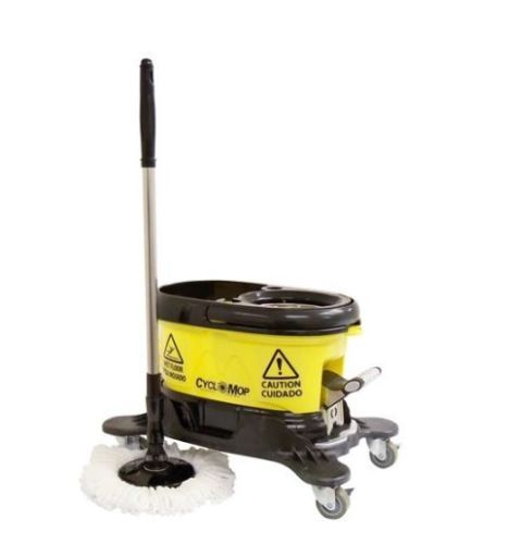New Commercial Spin Floor Mop With Dolly Wheels Heavy Duty