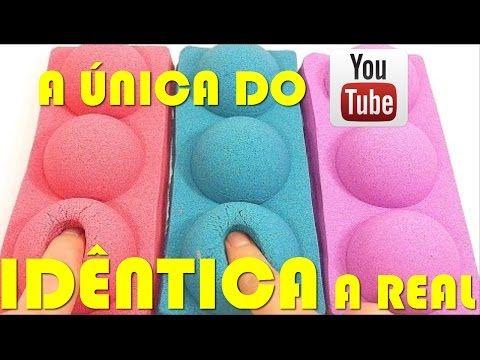 AREIA CINÉTICA, A UNICA DO YOUTUBE IDÊNTICA A REAL! DIY REAL KINETIC SAND - YouTube
