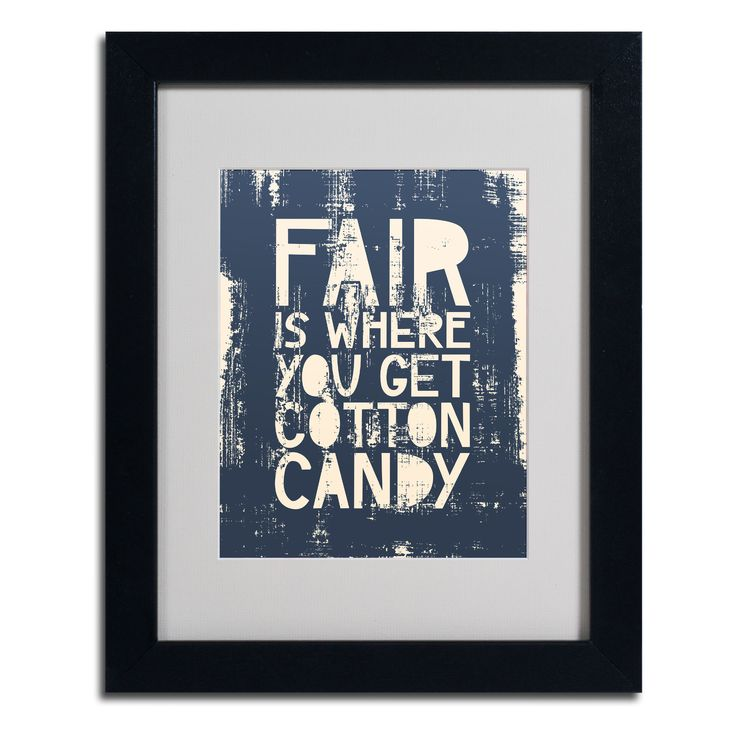 'Fair V' by Megan Romo Framed Textual Art | Wayfair