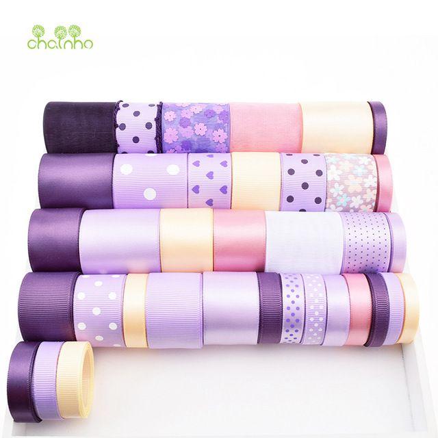 Высокое качество 36 Дизайн Mix Фиолетовый Ленты Набор Для Diy Ручной Работы Подарок Ремесло Упаковка Аксессуары Для Волос Свадебные Материалы Package36Yard
