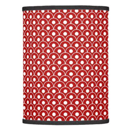 Seamless Wave Pattern Red Lamp Shade - patterns pattern special unique design gift idea diy