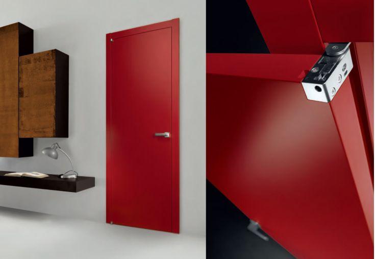MS soft red & detail filomuro interior door εσωτερική πόρτα Loft