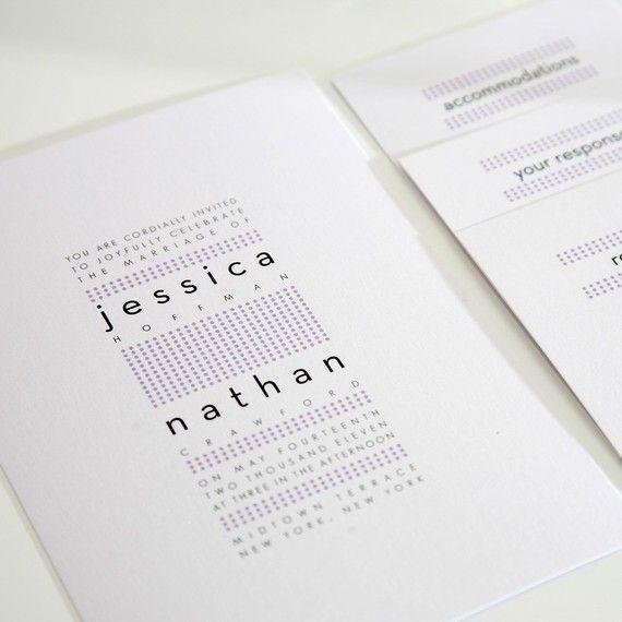 Modern Dots Wedding Invitations
