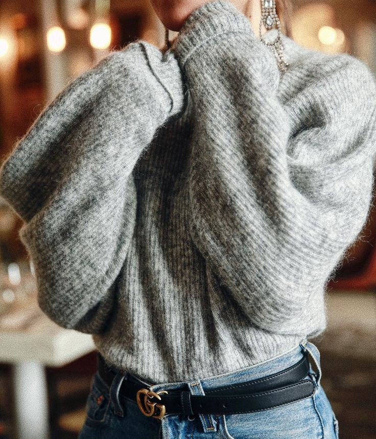 Comfy outfit : H&M sweater + Gucci belt + Levi's jeans <3 By Mypeeptoes