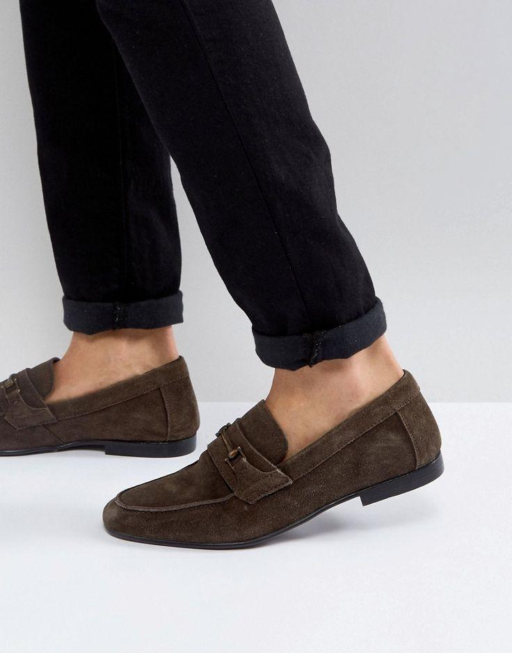 KG KURT GEIGER KG BY KURT GEIGER SUEDE LOAFERS - BROWN. #kgkurtgeiger #shoes #