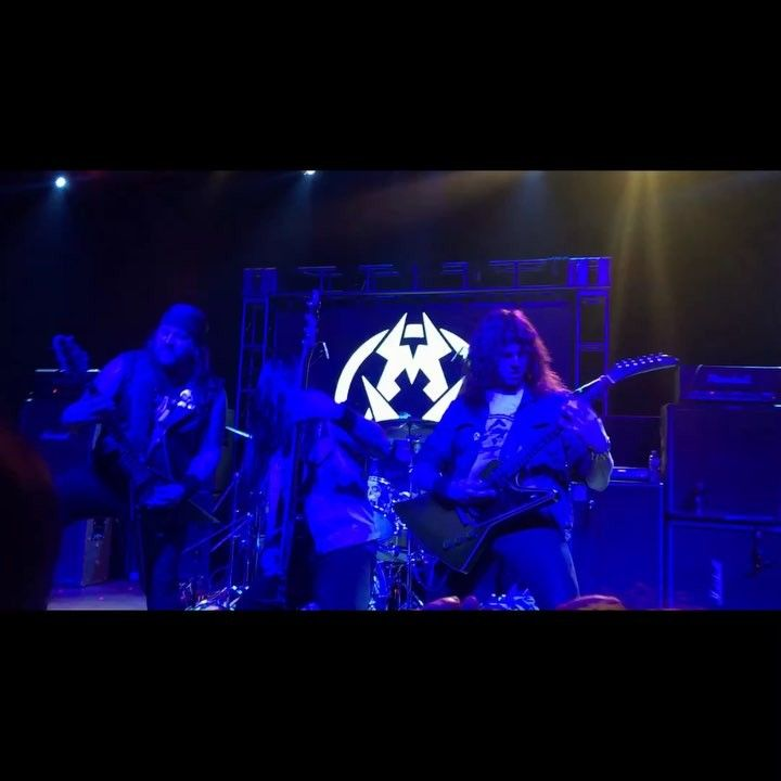 Last night was crazy overall was great. Exodus wall of death was intense. Got in it and some bald guy head butted me square in the bridge of my nose its all bruised up and swollen but worth it hah. Was great seeing my friends so happy man metal is so rad. #municipalwaste #exodus #metal #thrashmetal #thrash #metalhead #concert #philly #show #tla #theatreoflivingarts #mrpickles #mrpicklesthrashtacular (@ryanwaste @landphilmetal and @nicknightengale shredding)