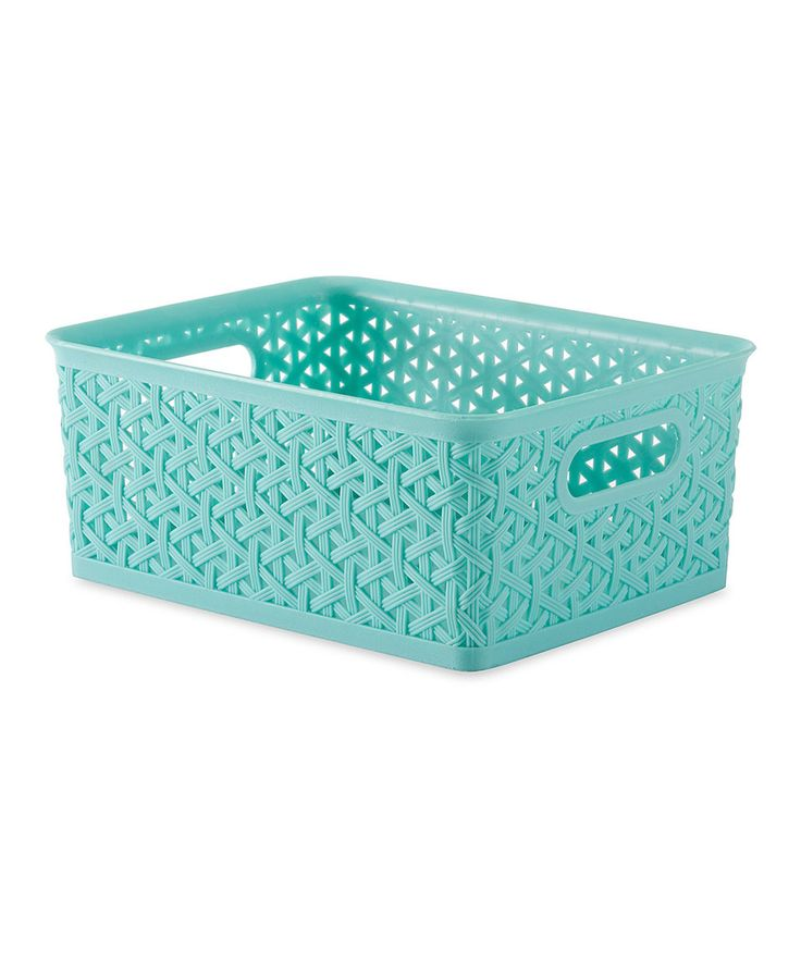 331 best storage images on pinterest storage bins for Turquoise bathroom bin