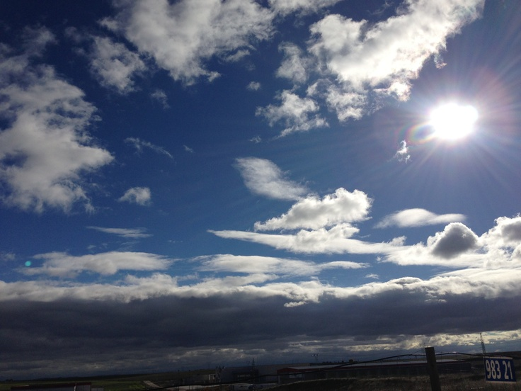 Beautiful Fall Skies at Scooby in Medina del Campo, Spain.