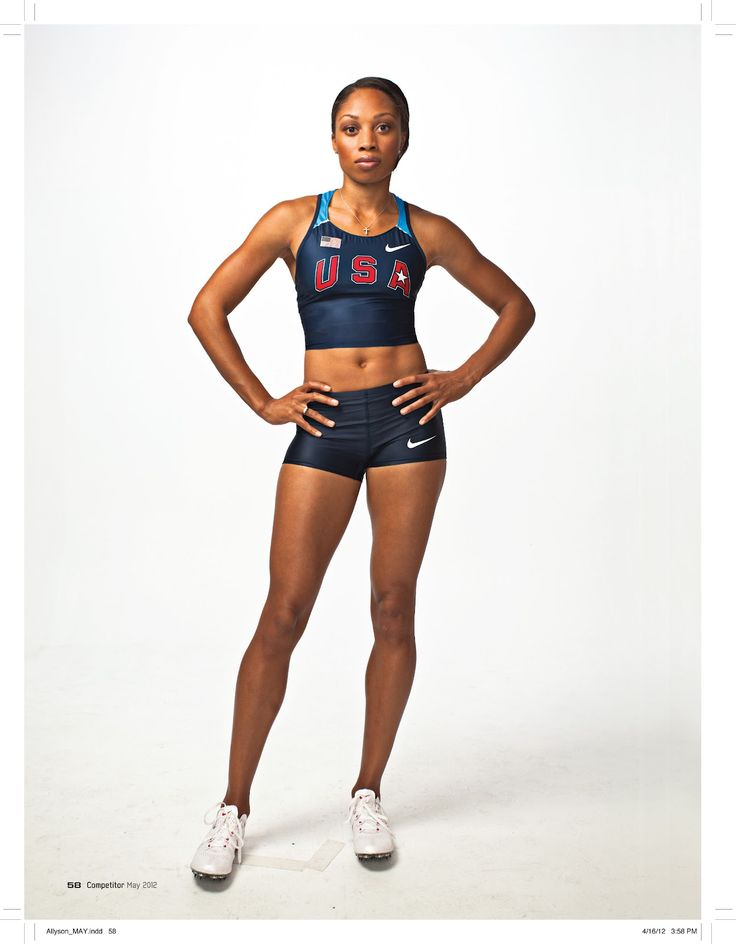 Allyson Felix, yep that girl can run! I can't wait to see her in London at the 2012 Olympics.