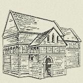 Een Karolingisch kerkgebouwtje. Het is een eenvoudige vakwerkconstructie, opgevuld met stenen en klei. De Saksen en Vikingen verwoestten de meeste van dit soort kerken,