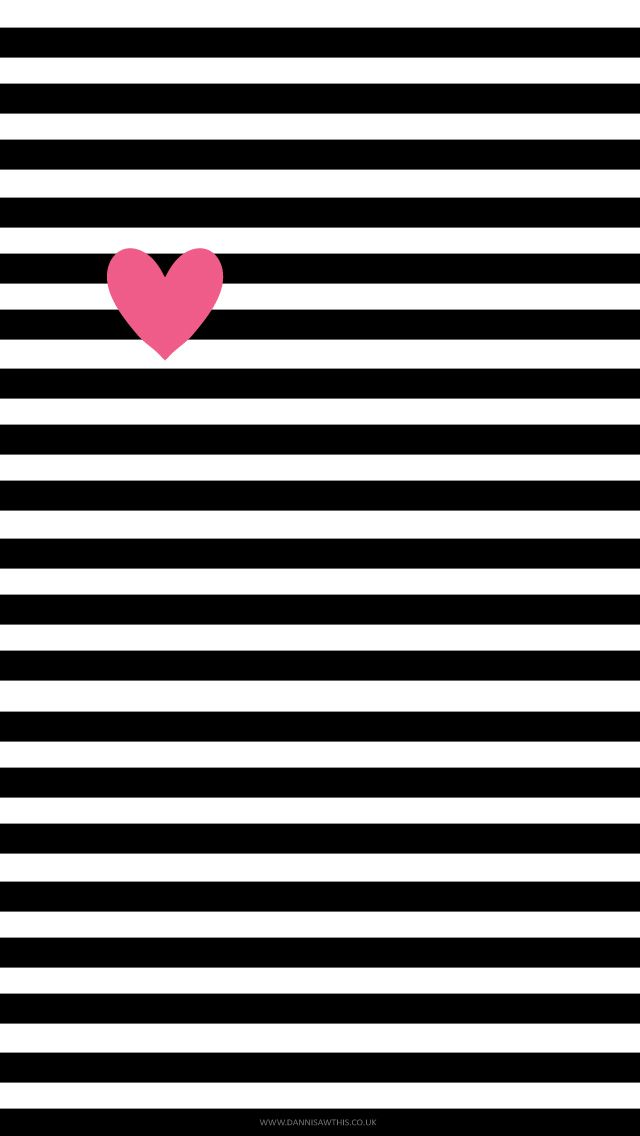 Free Black & White Stripes iPhone Wallpaper