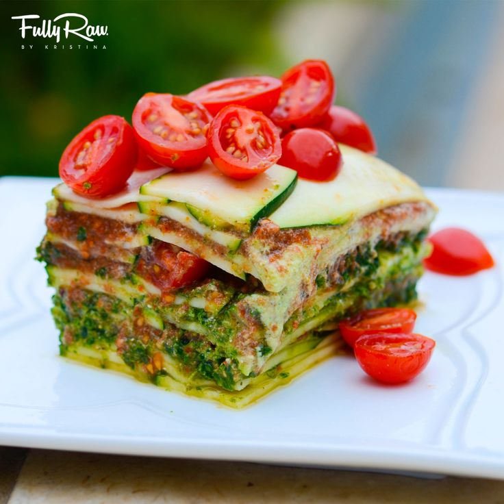 Epic Deep-Dish FullyRaw Lasagna: low fat and oil free...did I mention delicious?…