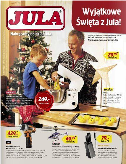 Jula zasypuje pomysłami na prezenty i nakręca do działania. My Julę odwiedzimy, ponieważ jest w czym wybierać. http://www.promocyjni.pl/gazetki/12183-nakrecamy-do-dzialania--gazetka-promocyjna