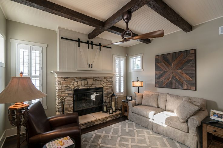 Warm and cozy Hearth Room | Litchfield Tradition | by Wayne Homes