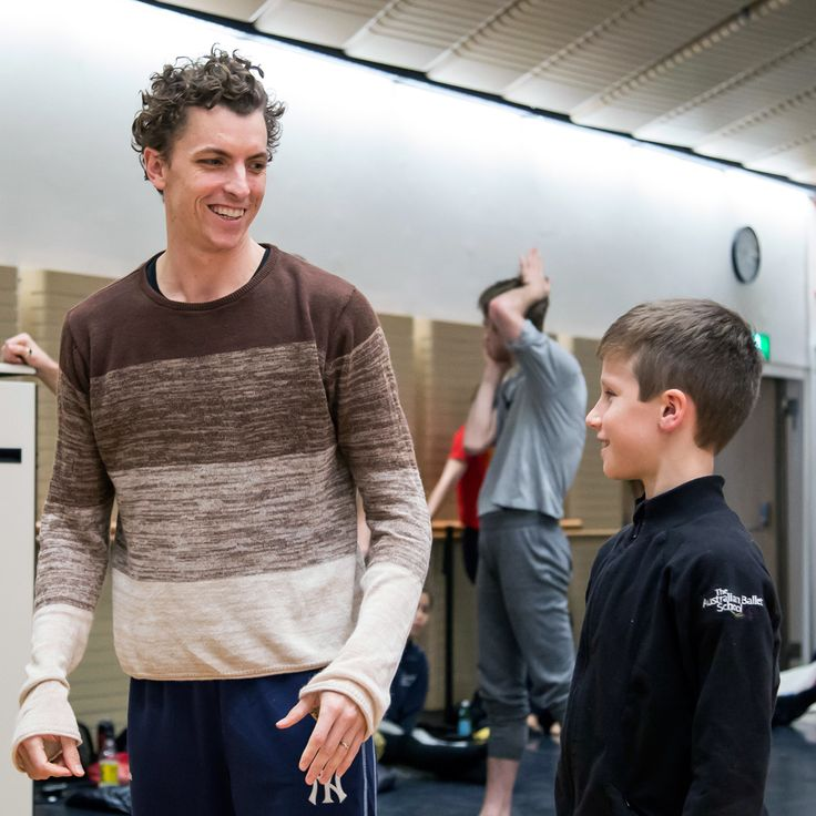 Kevin Jackson and Ben (ITP student of The Australian Ballet School rehearsing with The Australian Ballet)