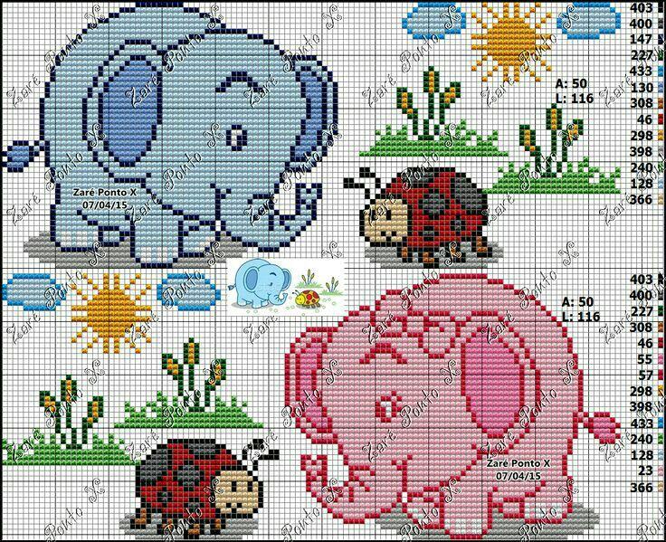 Elefantes y mariquita