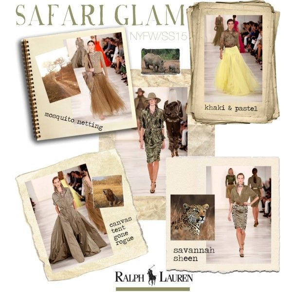 """NYFW: Ralph Lauren Safari Glam"" by barngirl on Polyvore"