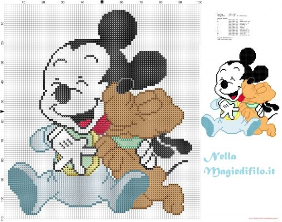 Baby MIckey Mouse with baby Pluto (click to view)
