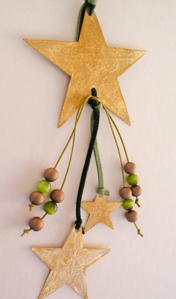 Brass star ornament or charm Handmade Christmas by LaPetiteMelina