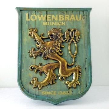Lowenbrau Munich Table Sign