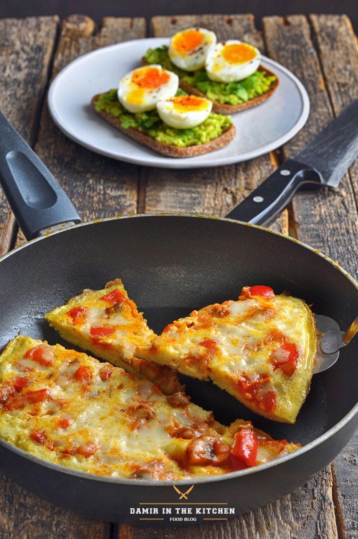 """Пост для флешмоба """"Монообеды. Яйцо"""" Омлет-пицца Ингредиенты: Яйца – 6 шт. Сыр Моцарелла тёртый – 1/3 чашки (Чашка = 240 мл.) Чашка мелконарезанных овощей…"""