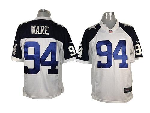 White Ware Thanksgiving Game Nike Dallas Cowboys #94 Jersey ID:432700710$23
