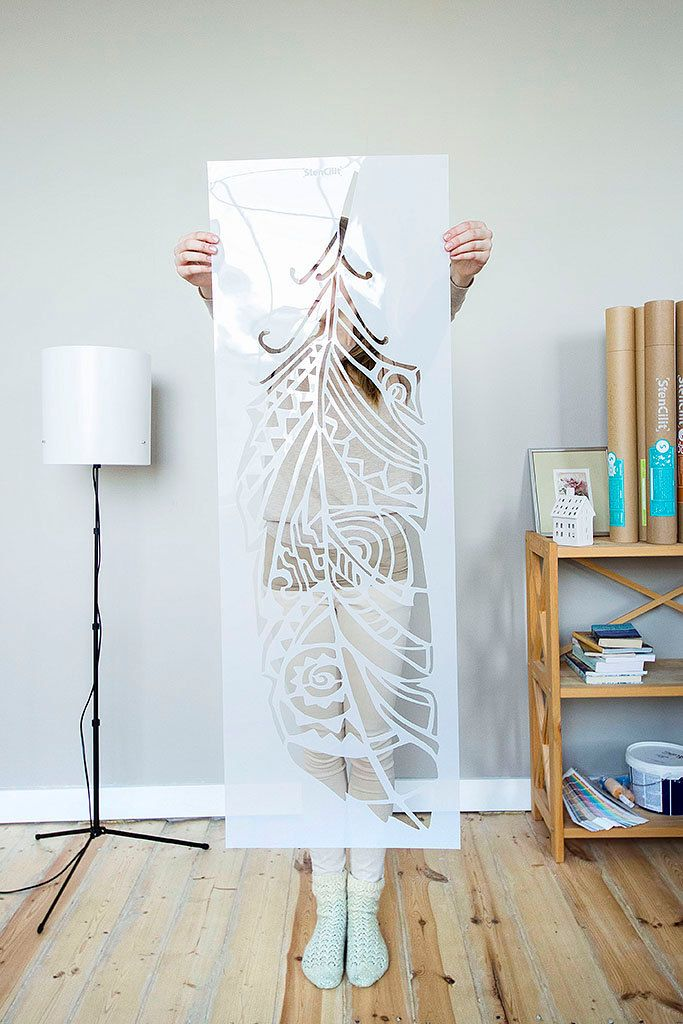 les 25 meilleures id es concernant pochoir mural sur pinterest pochoirs muraux peindre. Black Bedroom Furniture Sets. Home Design Ideas