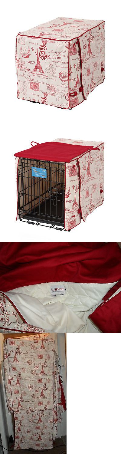 Carriers and Crates 26702: Crate Covers And More Parisian Red Stagecoach Dog Crate Covers Large BUY IT NOW ONLY: $59.95