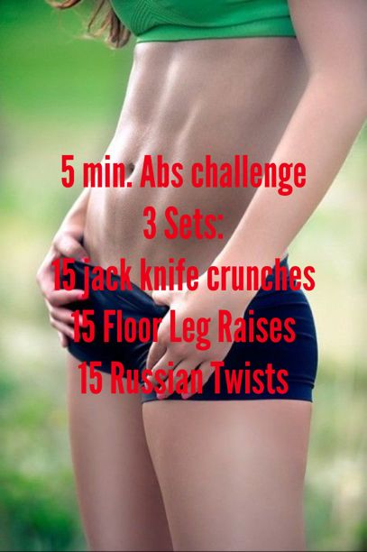 Looking for a real abs workout? Then try this week's intense Skinny FIT Abs Challenge by doing 3 sets of each exercises in under 5 min. total. Re-pin now, check later.
