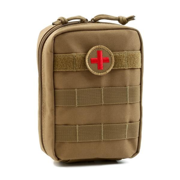 MOLLE EMT Medical First Aid Utility Pouch - Coyote/Tan Orca Tactical Gear  The Orca Tactical MOLLE EMT Military Medical Pouch is the latest design in military grade tactical first aid gear. Constructed from 900 Denier PVC Polyester, our medical pouches are built to withstand the toughest outdoor conditions. It features a front side to side MOLLE webbing at the top so you can attach a first aid patch and any other identification or decorative patch at the same time. A first aid patch is…