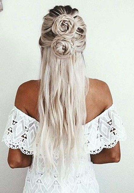 Double Braided Knot Gray Hairstyle                                                                             Source