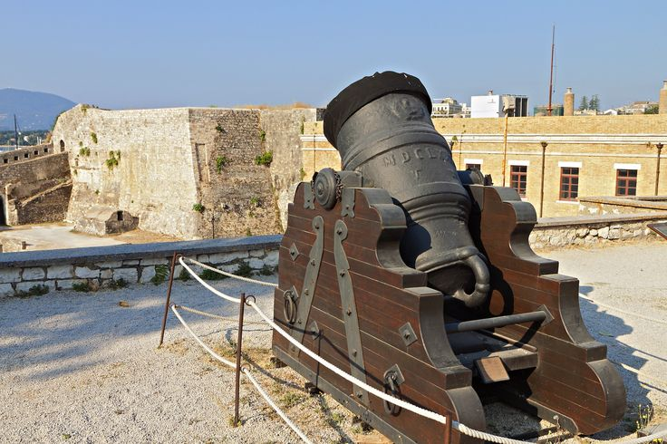 Old cannon at the castle of Corfu