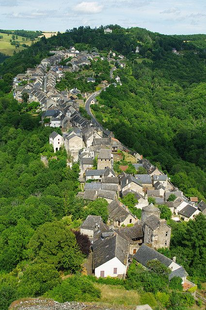 Medieval village of Najac in southern France (by cynthiacaughey)