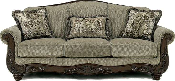 ashley furniture traditional sofa | Chicago Ashley Furniture Store for Grey Traditional Fabric Sofa