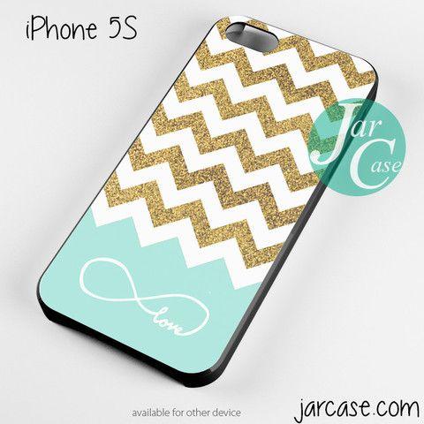 Glitter Gold White Infinity Love Chevron Phone case for iPhone 4/4s/5/5c/5s/6/6 plus