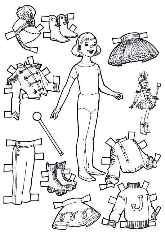 Printable Paper Dolls to Color & Cut Out
