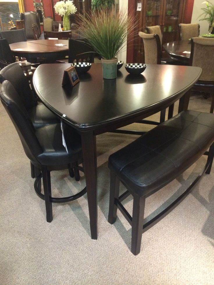 17 best images about tables on pinterest ashley for Best shaped table for small dining room