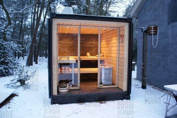 Gartensauna Schwarz Holz Glass Sauna Design Outdoor Sauna Container House