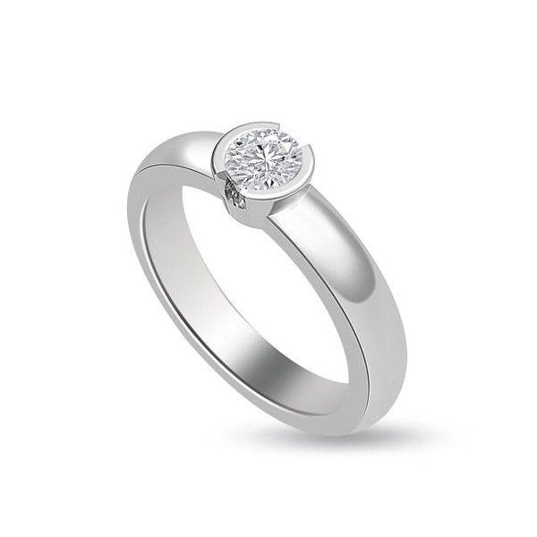 ANELLO DI FIDANZAMENTO SOLITARIO CON DIAMANTE 18CT ORO BIANCO | Solitario con diamante taglio brillante montato a battita. L`anello è disponibile in 18ct oro bianco, 18ct oro giallo e in platino. Il peso dei carati del diamante può variare da 0.20ct a 0.60ct ed il colore da F ad I e la purezza da VS1 ad SI1. L`anello è accompagnato dal certificato del diamante. Perfetto per fidanzamento, matrimonio o anniversario e come regalo nel giorno di San Valentino.