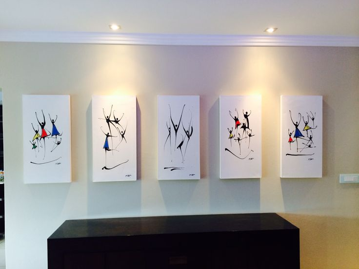 Series of Dancers on canvas on my Clients wall Glen Josselsohn Contemporary Art
